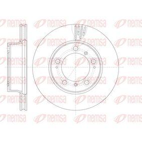 REMSA  61135.10 Bremsscheibe Bremsscheibendicke: 24mm, Lochanzahl: 5, Ø: 297,8mm