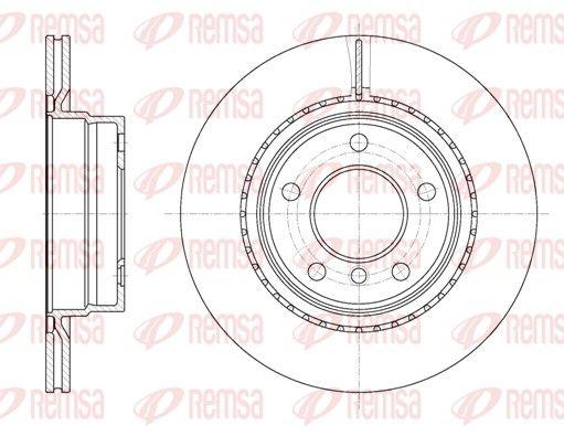 REMSA  61231.10 Bremsscheibe Bremsscheibendicke: 20mm, Lochanzahl: 5, Ø: 299,9mm