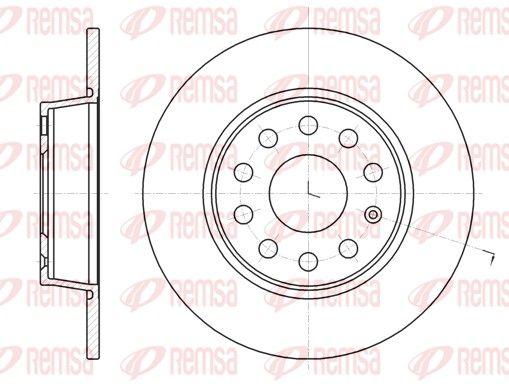 REMSA  61340.00 Bremsscheibe Bremsscheibendicke: 10mm, Lochanzahl: 9, Ø: 271,8mm, Ø: 271,8mm