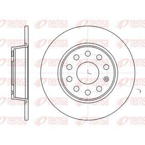 Bremsscheibe Bremsscheibendicke: 10mm, Lochanzahl: 9, Ø: 271,8mm, Ø: 271,8mm mit OEM-Nummer 1K0 615 601AA