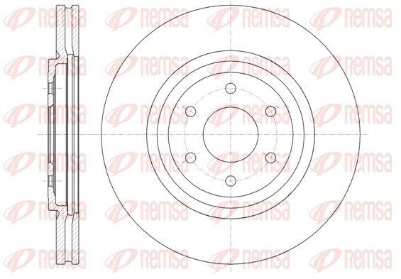 REMSA  61348.10 Bremsscheibe Bremsscheibendicke: 28mm, Lochanzahl: 6, Ø: 319,5mm, Ø: 319,5mm