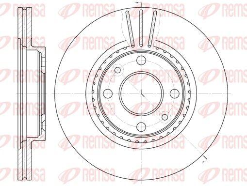 REMSA  6144.10 Bremsscheibe Bremsscheibendicke: 20,6mm, Lochanzahl: 4, Ø: 259mm