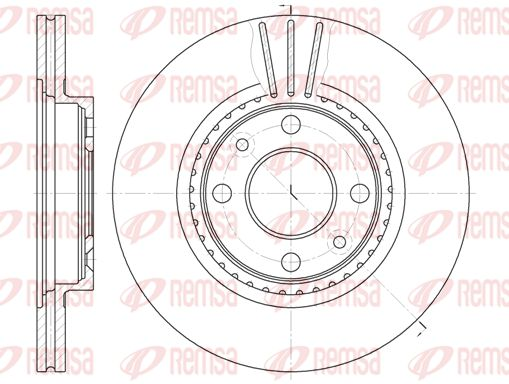 REMSA  6144.10 Bremsscheibe Bremsscheibendicke: 20,6mm, Lochanzahl: 4, Ø: 259mm, Ø: 259mm