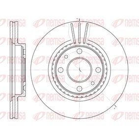 Bremsscheibe Bremsscheibendicke: 20,6mm, Lochanzahl: 4, Ø: 259mm mit OEM-Nummer 77012-04828