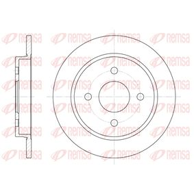 Brake Disc Brake Disc Thickness: 10mm, Num. of holes: 4, Ø: 252,5mm, Ø: 252,5mm with OEM Number 1 373 781