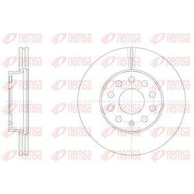 Bremsscheibe Bremsscheibendicke: 23,5mm, Lochanzahl: 9, Ø: 276mm, Ø: 276mm mit OEM-Nummer 5N0 615 301