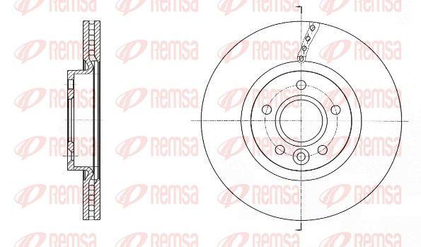 REMSA  61589.10 Bremsscheibe Bremsscheibendicke: 25mm, Lochanzahl: 5, Ø: 300mm, Ø: 300mm
