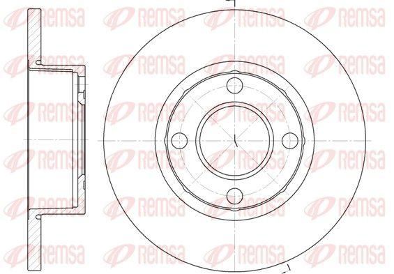 REMSA  6173.00 Bremsscheibe Bremsscheibendicke: 13mm, Lochanzahl: 4, Ø: 256mm, Ø: 256mm