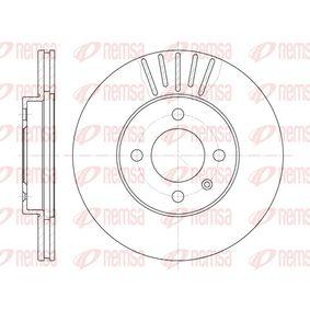 REMSA  6175.10 Bremsscheibe Bremsscheibendicke: 20mm, Lochanzahl: 4, Ø: 256mm