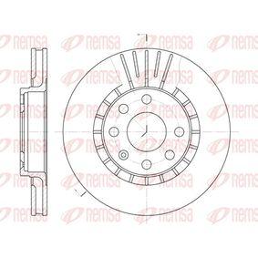 Bremsscheibe Bremsscheibendicke: 24mm, Lochanzahl: 6, Ø: 256mm, Ø: 256mm mit OEM-Nummer 90 487 402
