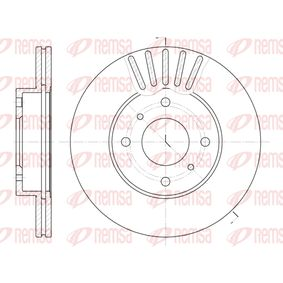 Bremsscheibe Bremsscheibendicke: 22mm, Lochanzahl: 4, Ø: 257mm mit OEM-Nummer 23-0249