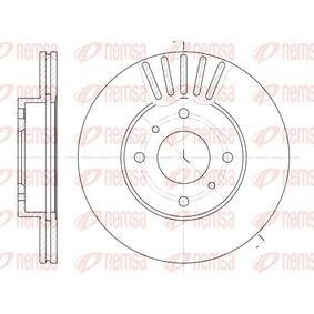 REMSA  6179.10 Bremsscheibe Bremsscheibendicke: 22mm, Lochanzahl: 4, Ø: 257mm