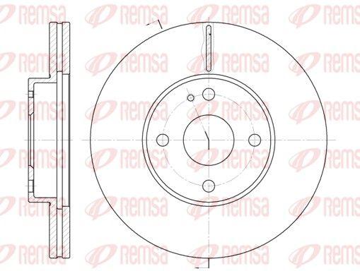 REMSA  6184.10 Bremsscheibe Bremsscheibendicke: 22mm, Lochanzahl: 4, Ø: 257mm, Ø: 257mm