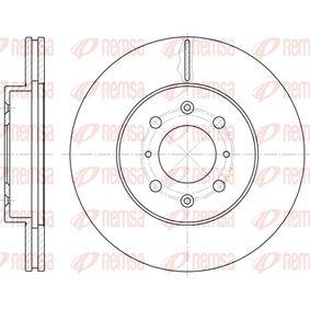 Спирачен диск дебелина на спирачния диск: 21мм, брой на дупките: 4, Ø: 262мм с ОЕМ-номер 45251SK7A00