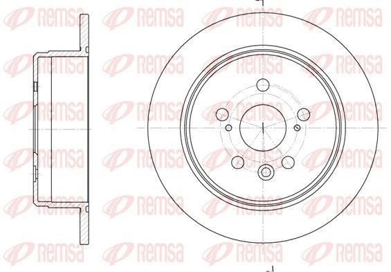 REMSA  6245.00 Disque de frein Epaisseur du disque de frein: 10mm, Nbre de trous: 5, Ø: 269mm