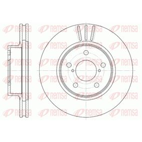 Bremsscheibe Bremsscheibendicke: 24mm, Lochanzahl: 5, Ø: 260mm, Ø: 260mm mit OEM-Nummer 26300AE040