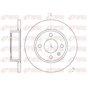 Bremsscheibe Bremsscheibendicke: 12,7mm, Lochanzahl: 4, Ø: 236mm, Ø: 236mm mit OEM-Nummer 6U0501615B