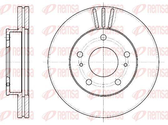 REMSA  6444.10 Bremsscheibe Bremsscheibendicke: 26mm, Lochanzahl: 5, Ø: 257mm