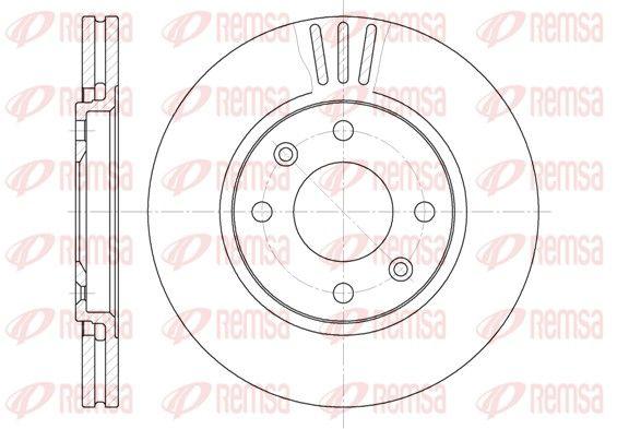 REMSA  6449.10 Bremsscheibe Bremsscheibendicke: 24mm, Lochanzahl: 4, Ø: 260mm