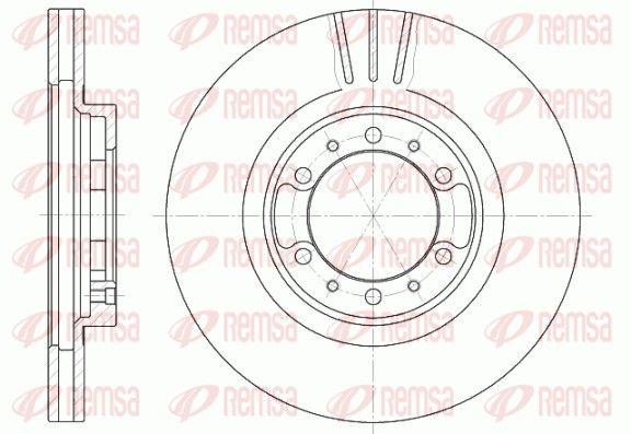 REMSA  6462.10 Bremsscheibe Bremsscheibendicke: 24mm, Lochanzahl: 6, Ø: 276mm