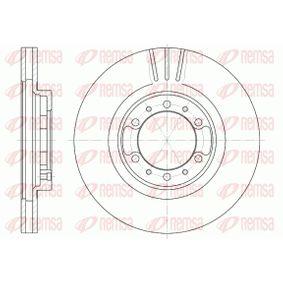 Brake Disc Brake Disc Thickness: 24mm, Num. of holes: 6, Ø: 276mm, Ø: 276mm with OEM Number MR 129 648