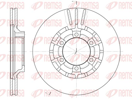 REMSA  6464.10 Bremsscheibe Bremsscheibendicke: 22mm, Lochanzahl: 6, Ø: 277mm