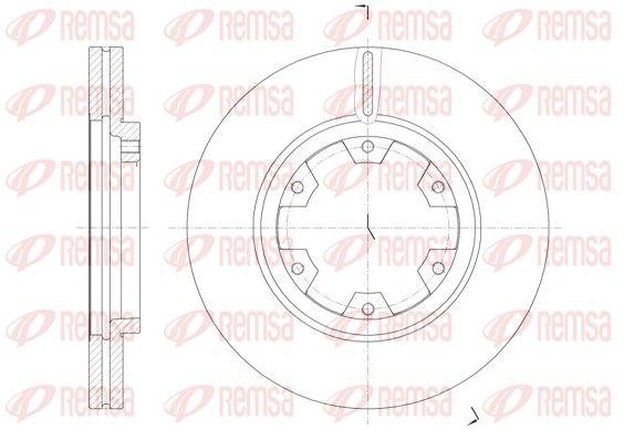 REMSA  6466.10 Bremsscheibe Bremsscheibendicke: 26mm, Lochanzahl: 6, Ø: 277mm, Ø: 277mm