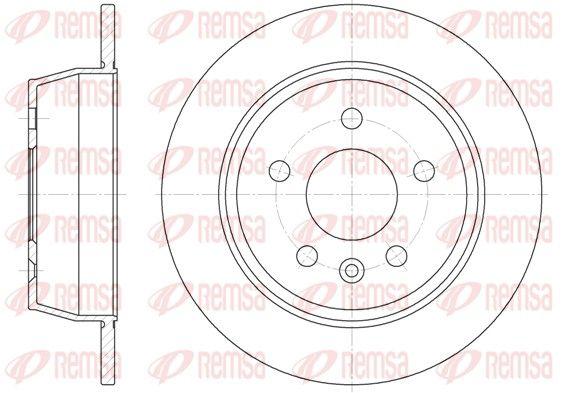 REMSA  6471.00 Bremsscheibe Bremsscheibendicke: 10mm, Lochanzahl: 5, Ø: 280mm