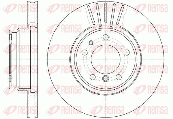REMSA  6509.10 Bremsscheibe Bremsscheibendicke: 28mm, Lochanzahl: 5, Ø: 316mm, Ø: 316mm