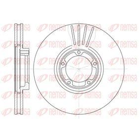 Bremsscheibe Bremsscheibendicke: 24mm, Lochanzahl: 5, Ø: 254mm mit OEM-Nummer 502 9815
