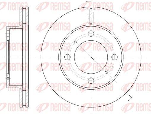 REMSA  6539.10 Disco de freno Espesor disco freno: 22mm, Núm. orificios: 4, Ø: 255mm