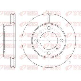 Bremsscheibe Bremsscheibendicke: 22mm, Lochanzahl: 4, Ø: 255mm mit OEM-Nummer 43512 12550