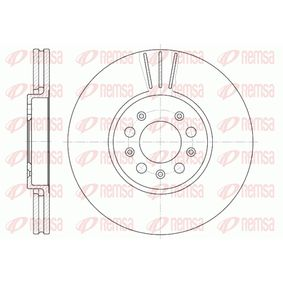 Bremsscheibe Bremsscheibendicke: 25mm, Lochanzahl: 5, Ø: 288mm, Ø: 288mm mit OEM-Nummer 1J0 615 301K