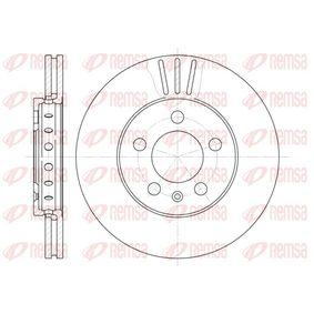 REMSA  6545.10 Bremsscheibe Bremsscheibendicke: 22mm, Lochanzahl: 5, Ø: 256mm