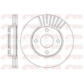 Brake Disc 6575.10 FIESTA 5 (JH, JD) 1.6 16V MY 2008