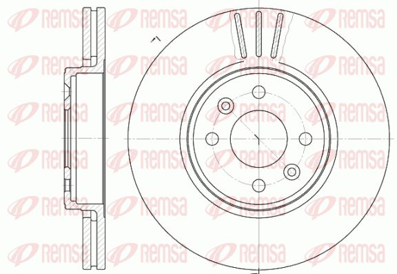 REMSA  6583.10 Bremsscheibe Bremsscheibendicke: 24mm, Lochanzahl: 4, Ø: 280mm, Ø: 280mm