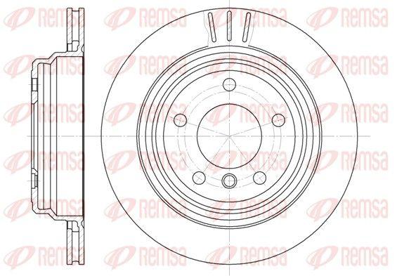 REMSA  6588.10 Bremsscheibe Bremsscheibendicke: 20mm, Lochanzahl: 5, Ø: 298mm, Ø: 298mm