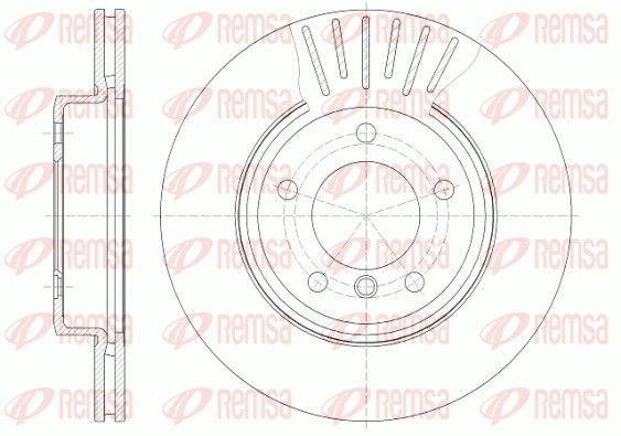 REMSA  6589.10 Bremsscheibe Bremsscheibendicke: 22mm, Lochanzahl: 5, Ø: 300mm