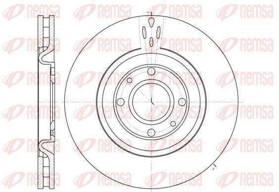 REMSA  6590.10 Bremsscheibe Bremsscheibendicke: 28mm, Lochanzahl: 4, Ø: 305mm