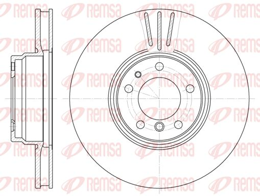 REMSA  6594.10 Bremsscheibe Bremsscheibendicke: 32mm, Lochanzahl: 5, Ø: 334mm