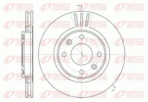 REMSA  6603.10 Bremsscheibe Bremsscheibendicke: 22mm, Lochanzahl: 4, Ø: 266mm