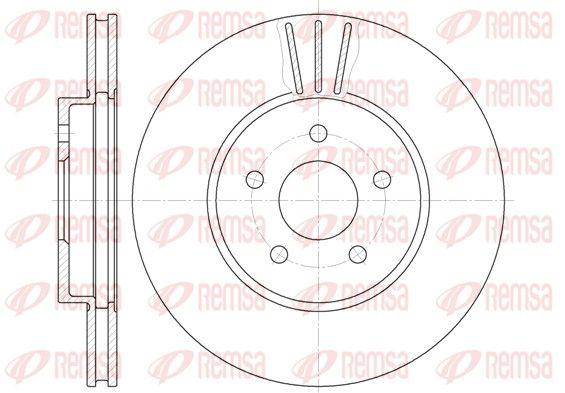 REMSA  6607.10 Bremsscheibe Bremsscheibendicke: 24mm, Lochanzahl: 5, Ø: 300mm