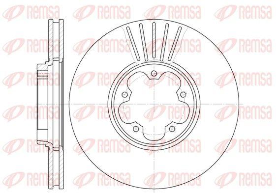 REMSA  6609.10 Bremsscheibe Bremsscheibendicke: 24,5mm, Lochanzahl: 5, Ø: 276mm