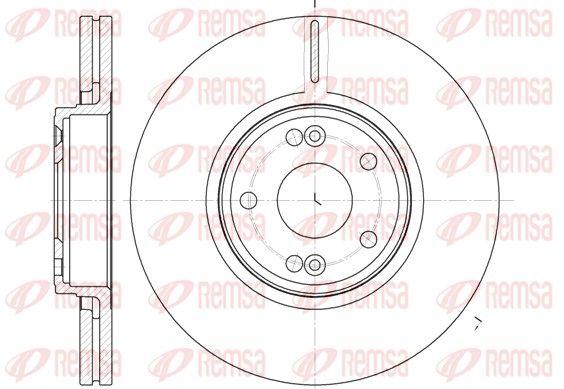 REMSA  6612.10 Bremsscheibe Bremsscheibendicke: 26mm, Lochanzahl: 5, Ø: 300mm