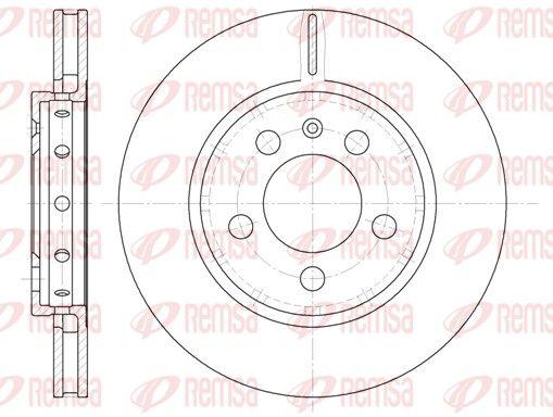REMSA  6646.10 Bremsscheibe Bremsscheibendicke: 21,9mm, Lochanzahl: 5, Ø: 256mm, Ø: 256mm