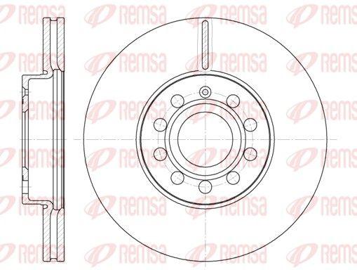 REMSA  6648.10 Bremsscheibe Bremsscheibendicke: 24,9mm, Lochanzahl: 9, Ø: 287,8mm, Ø: 287,8mm
