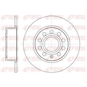 Bremsscheibe Bremsscheibendicke: 9,9mm, Lochanzahl: 9, Ø: 254,7mm mit OEM-Nummer 1K0 615 601AB