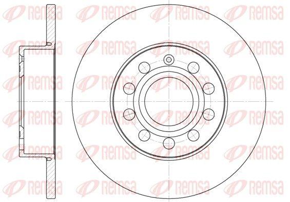 REMSA  6650.00 Bremsscheibe Bremsscheibendicke: 11,9mm, Lochanzahl: 9, Ø: 259,8mm, Ø: 259,8mm