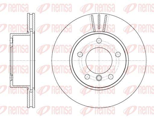 REMSA  6651.10 Bremsscheibe Bremsscheibendicke: 22mm, Lochanzahl: 5, Ø: 284mm