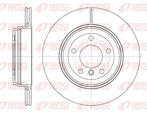 REMSA  6654.10 Bremsscheibe Bremsscheibendicke: 20mm, Lochanzahl: 5, Ø: 320mm